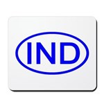 India - IND Oval Mousepad