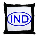 India - IND Oval Throw Pillow