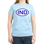 India - IND Oval Women's Pink T-Shirt