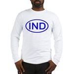 India - IND Oval Long Sleeve T-Shirt