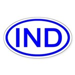 India - IND Oval Oval Sticker