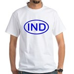 India - IND Oval Premium White T-Shirt