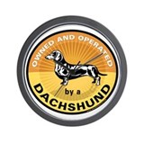 Owned and Operated by a Dachs Wall Clock