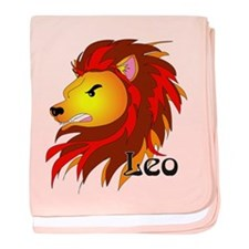 Whimsical Leo baby blanket