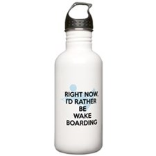 Rather be wakeboarding Water Bottle