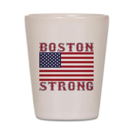 BOSTON STRONG U.S. Flag Shot Glass