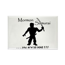 Mormon Samurai Rectangle Magnet