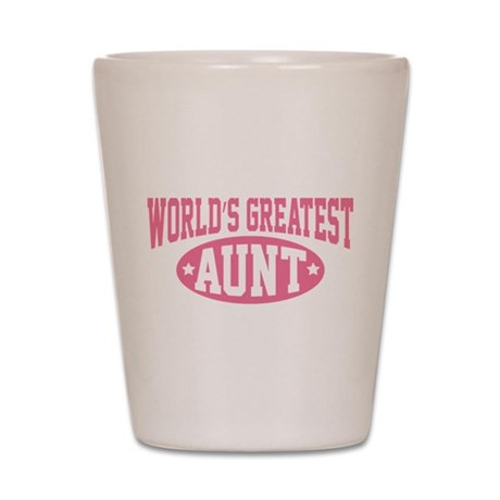 World's Greatest Aunt Shot Glass