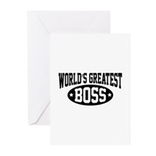 World's Greatest Boss Greeting Cards (Pk of 20)