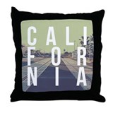 California Train Tracks Throw Pillow