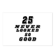 25 Birthday Designs Postcards (Package of 8)