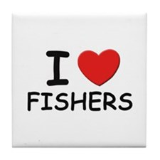 I love fishers Tile Coaster
