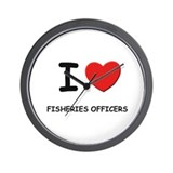 I love fisheries officers Wall Clock