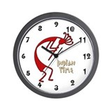 Indian Time Red Wall Clock
