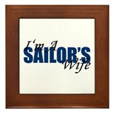 I'm A Sailor's Wife Framed Tile