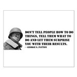 Patton Quote - How Small Poster