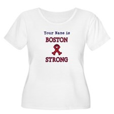 Boston Strong Ribbon Lt - Personalized! Plus Size