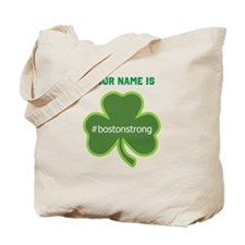 #bostonstrong Shamrock Lt - Personalized! Tote Bag