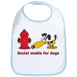 Social Media for the dogs Bib