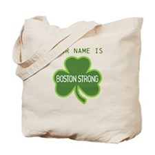 Boston Strong Shamrock Lt - Personalized! Tote Bag