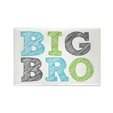 Sketch Style Big Bro Rectangle Magnet (100 pack)
