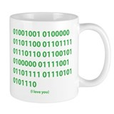 I LOVE YOU in Binary Code Mug