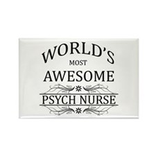 World's Most Awesome Psych Nurse Rectangle Magnet
