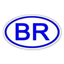 Brazil - BR Oval Oval Decal