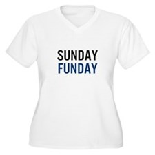 Sunday Funday (black / blue) Plus Size T-Shirt