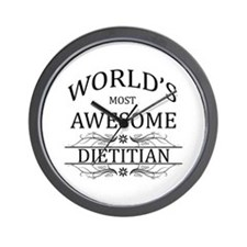 World's Most Awesome Dietitian Wall Clock