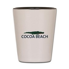 Cocoa Beach - Alligator Design. Shot Glass