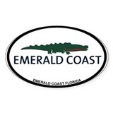 Emerald Coast - Alligator Design. Decal