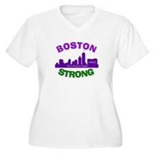 BOSTON STRONG CURVED 6 Plus Size T-Shirt
