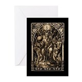 Satan Enthroned Greeting Cards (Pk of 10)