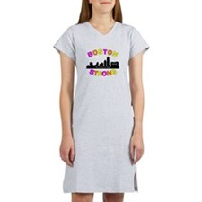 BOSTON STRONG CURVED 3 Women's Nightshirt