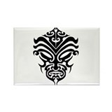 maori warrior face Rectangle Magnet
