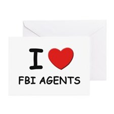 I love fbi agents Greeting Cards (Pk of 10)
