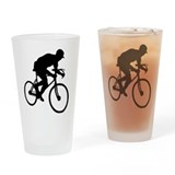Biker Drinking Glass