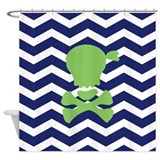 Chevron Pirate Shower Curtain