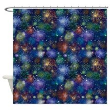 Celebratory Fireworks Shower Curtain