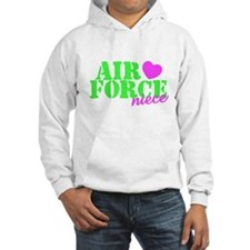 Air Force Niece Lime Green Pink Heart Hoodie