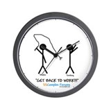 &quot;Get Back To Work!!!&quot; Wall Clock