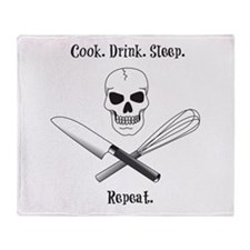 Cook. Drink. Sleep. Throw Blanket
