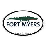 Fort Myers - Alligator Design. Decal