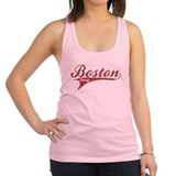 Boston Strong Red Ballpark Swoosh Racerback Tank T
