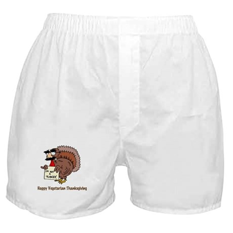 Happy Vegetarian Thanksgiving Boxer Shorts