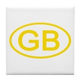 Great Britain - GB Oval Tile Coaster