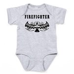 Firefighter Eagle Tattoo Baby Bodysuit