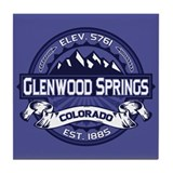 Glenwood Springs Midnight Tile Coaster