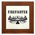 Firefighter Eagle Tattoo Framed Tile